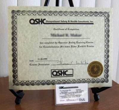 OSHA Industrial Fork Lift Truck & Forklift Training - Online Safety ...